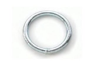 Ronde ringen verzinkt
