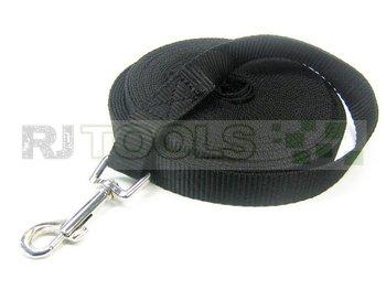 Honden looplijn zwart - 10 meter