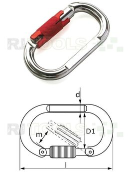 Veiligheids haak aluminium trilock