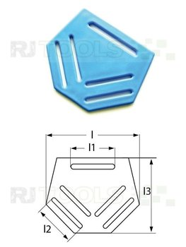 Rugplaat blauw