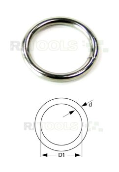 Ronde ring vernikkeld 16 x 2,4 mm