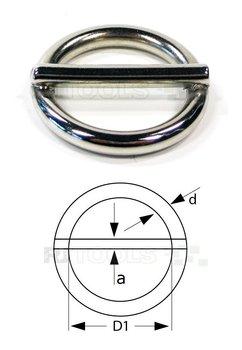 Ronde ring met pen 16 x 2,75 mm