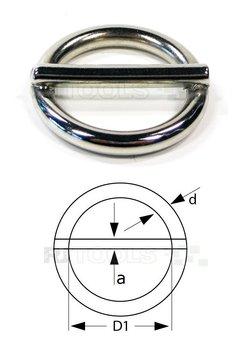Ronde ring met pen 20 x 3,50 mm