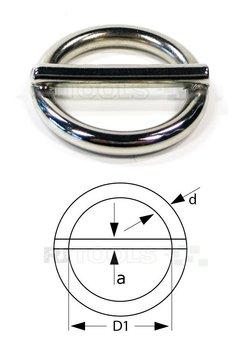 Ronde ring met pen 25 x 4,00 mm