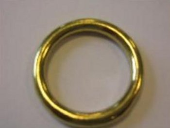 Ronde ring messing 26 x 05