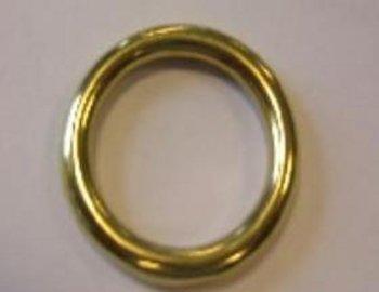 Ronde ring messing 23,5 x 4