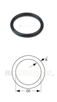 Ronde ring zwart verzinkt 25 x 3 mm