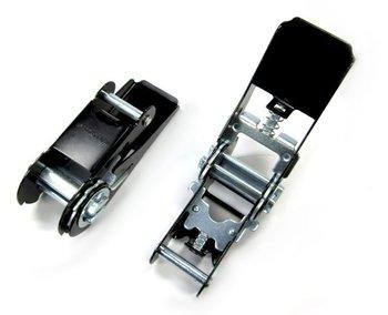 Spanratel 25 mm zwart smalle handgreep