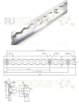 Airline rails 2 meter - 10 Stuks