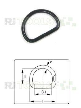 D-Ring 32 mm zwart verzinkt