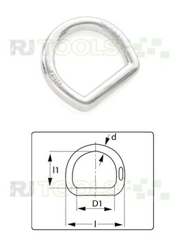 D-Ring 45 mm aluminium